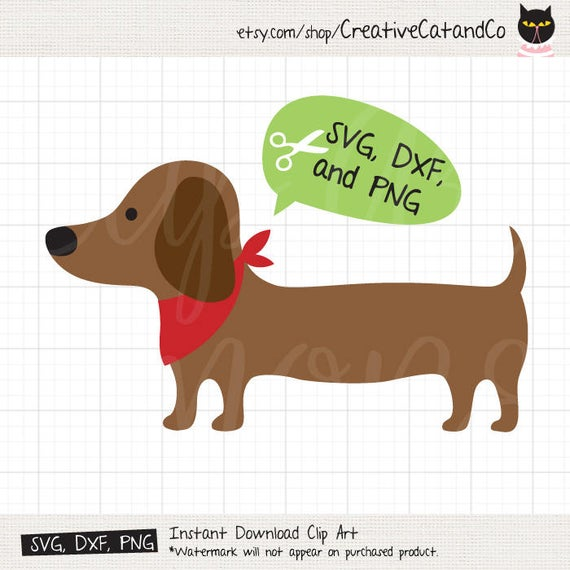 image free Dachshund SVG Files for Cricut or Silhouette Weiner Dog SVG Files for  Cricut or Silhouette DXF Silhouette Cut File Clip Art Clipart
