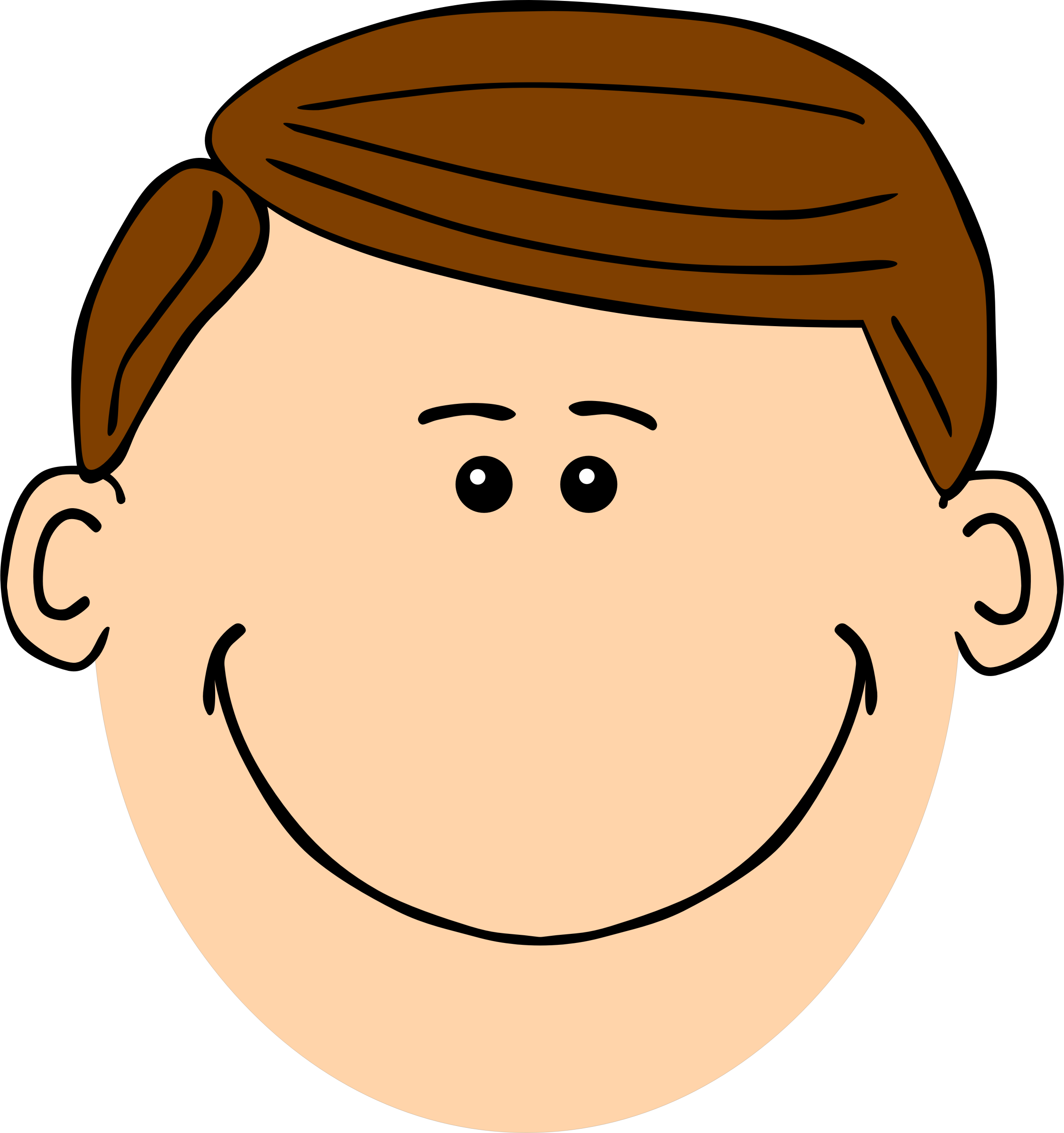 clip freeuse library  collection of face. Brown clipart dad