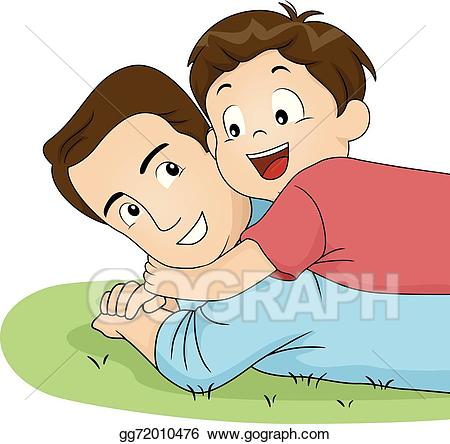 jpg freeuse Eps vector son and. Dad clipart