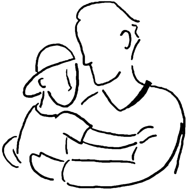 jpg library download Dad clipart black and white. Father s day poems