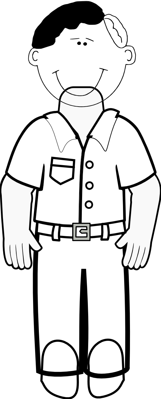 library Family black and white clipart. Dad coloring