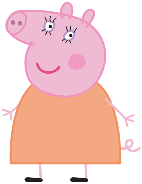 clipart library stock Mummy Pig Peppa Pig Transparent PNG Image