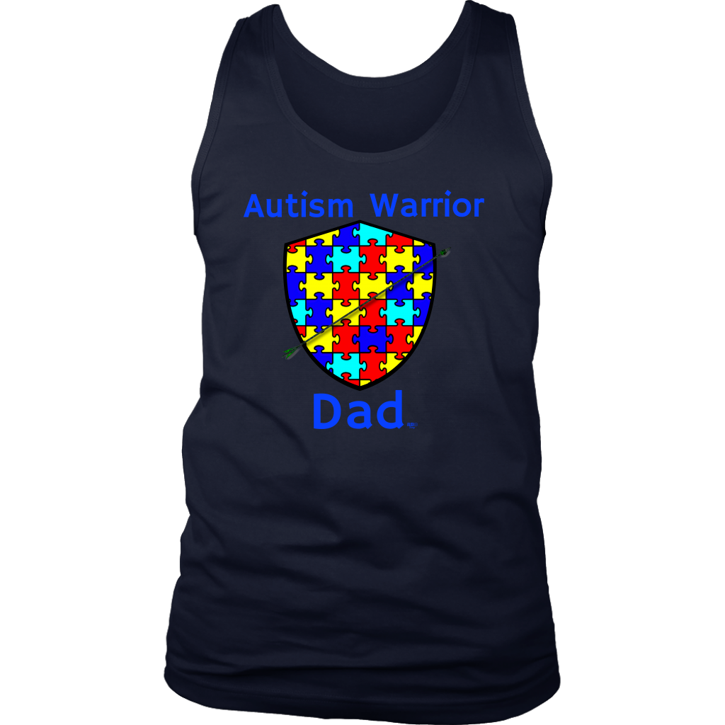 clip library stock Autism Warrior Dad Mens Tank Top