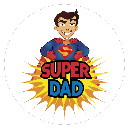 graphic transparent stock dad svg superhero #111186960