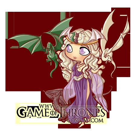 png black and white download Daenerys Targaryen Chibi