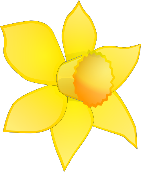 svg freeuse library Daffodil clipart. Flower clip art image