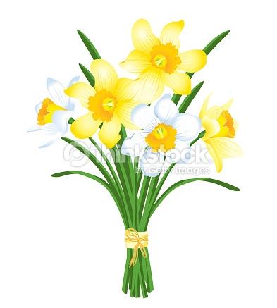vector free Daffodil clipart daffodil bouquet. Spring clip art arts