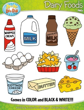 png freeuse library Dairy clipart. Foods zip a dee