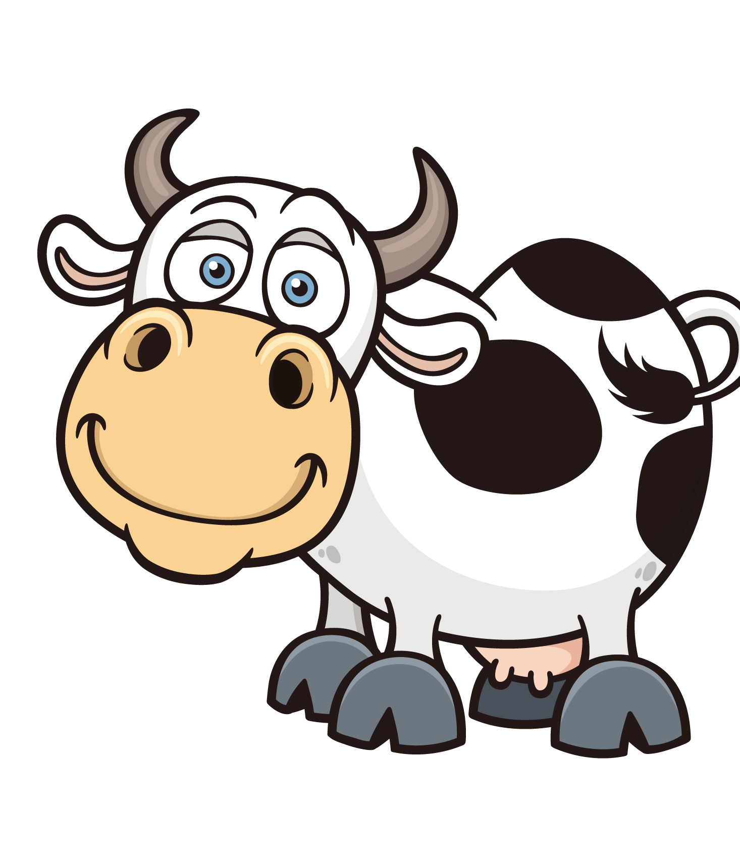 png transparent library Dairy clipart. Cattle cartoon royalty free