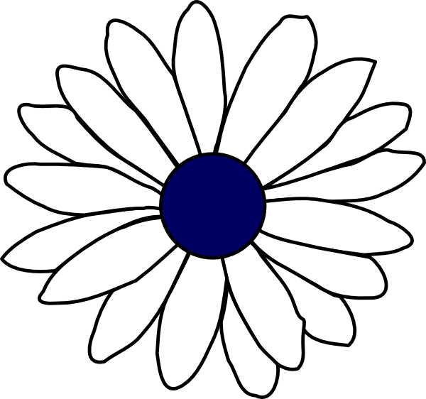 jpg royalty free stock Daisy line drawing at. Daisies clipart