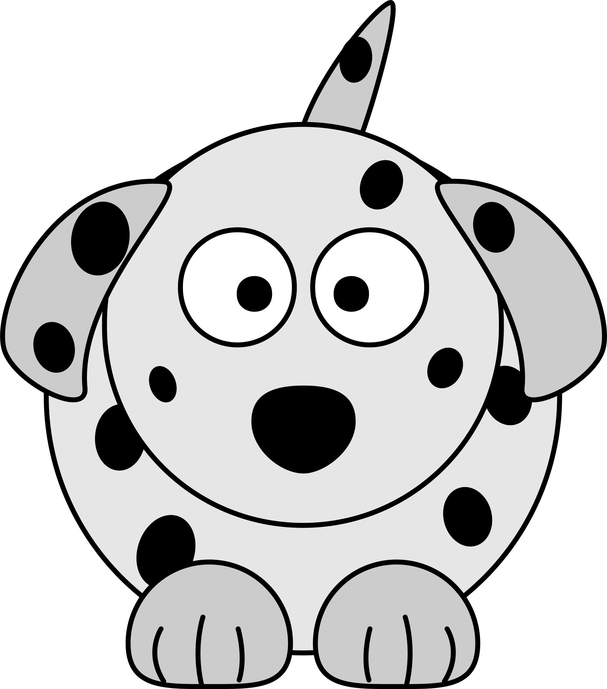 png black and white download Cartoon dog big image. Dalmatian clipart