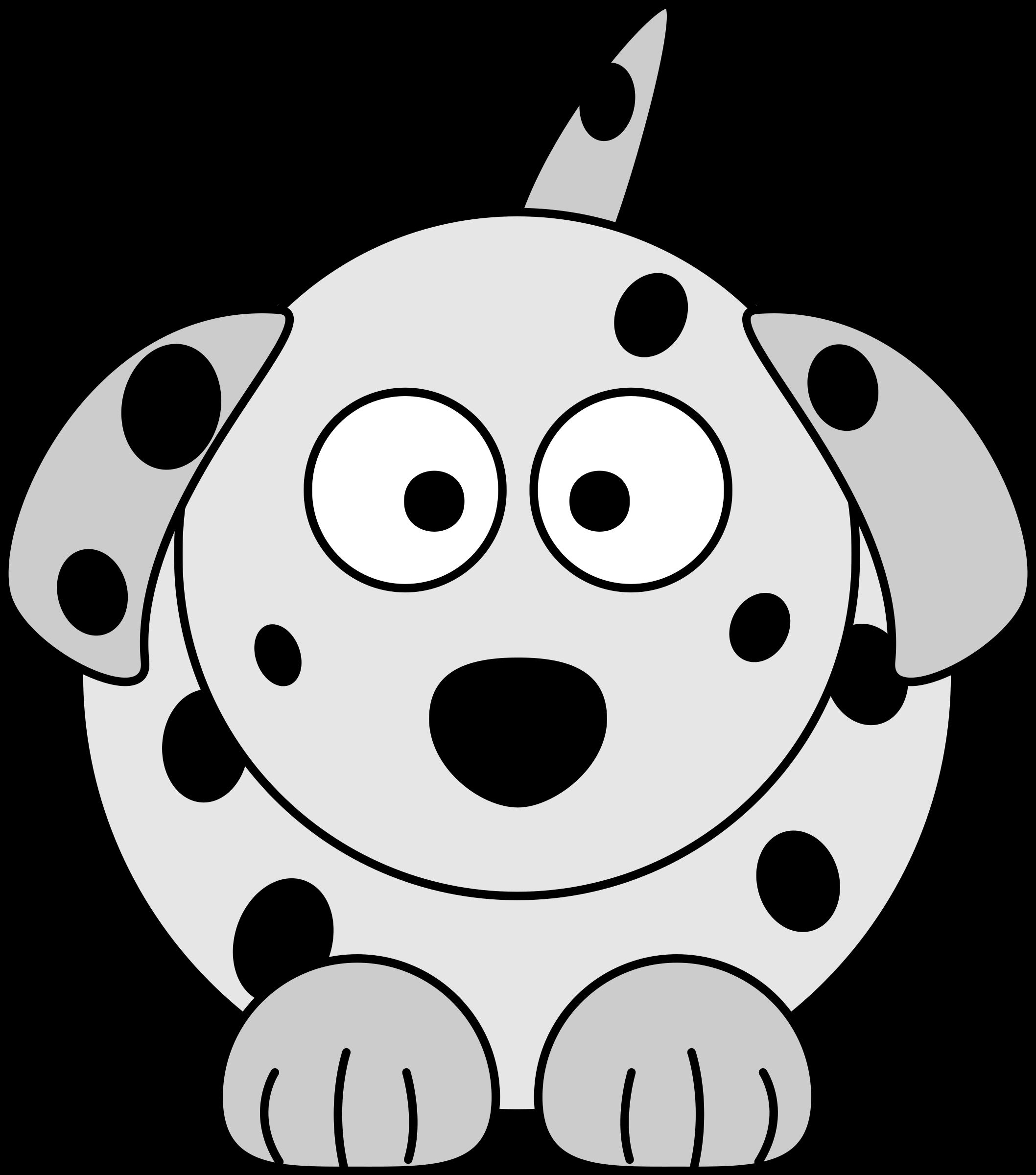 png black and white download Cartoon dog big image. Dalmatian clipart.
