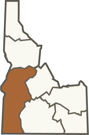 png freeuse stock Southwest region fish and. Idaho vector drawing