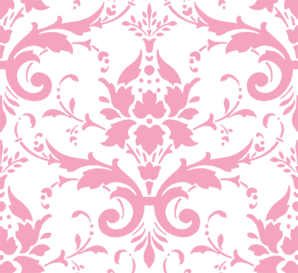 banner royalty free Pink Damask Ii Clip Art at Clker