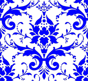 svg library library Royal Blue Damask Clip Art at Clker