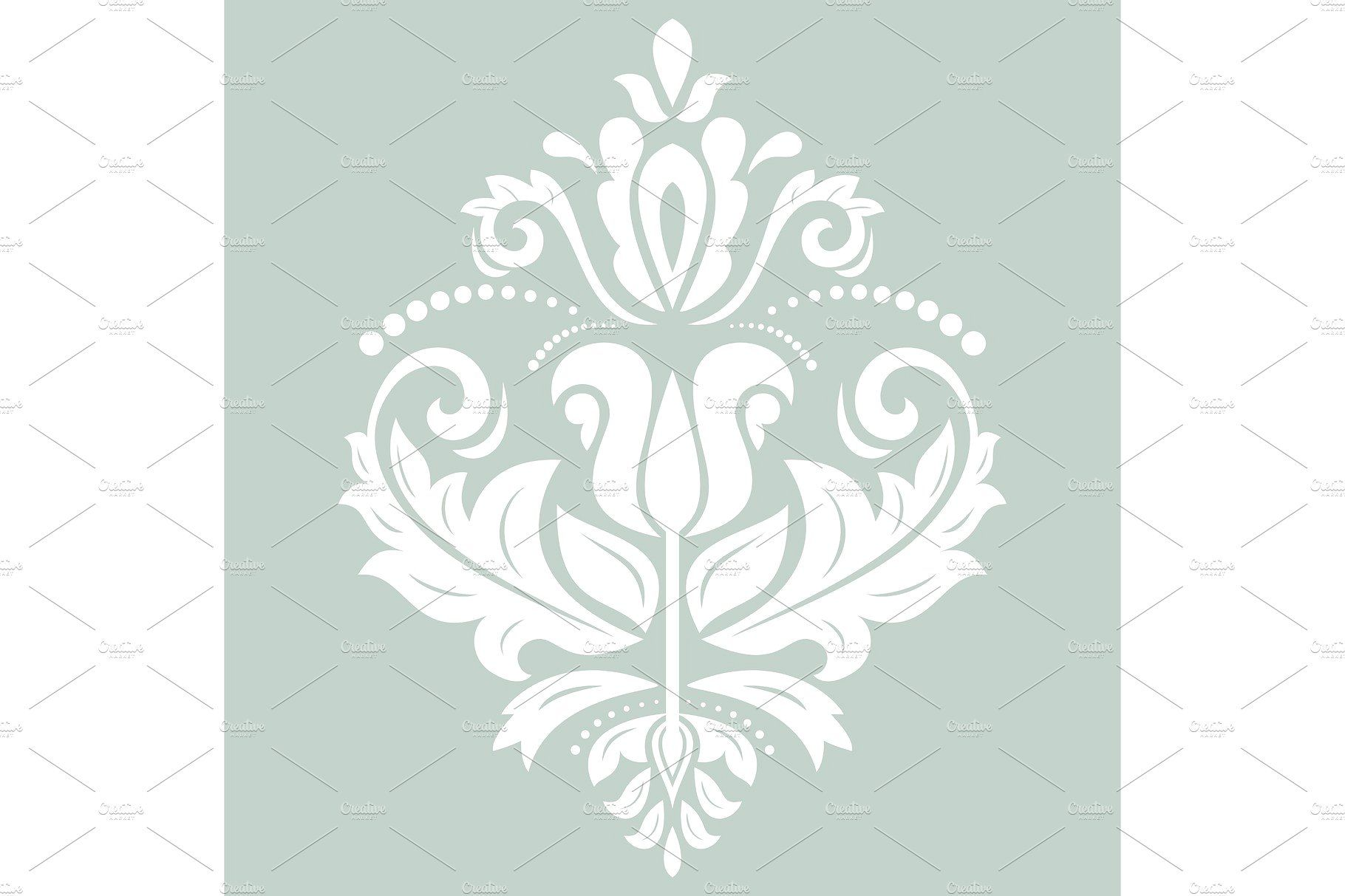 banner transparent library Damask Vector Pattern