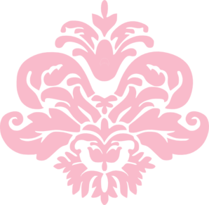 clip freeuse stock Pink Damask Shape Clip Art at Clker