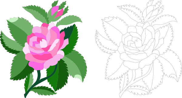 jpg royalty free Rose Flower Clip Art at Clker