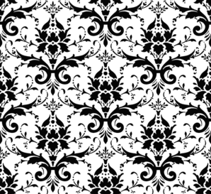 graphic black and white Free Damask Vector