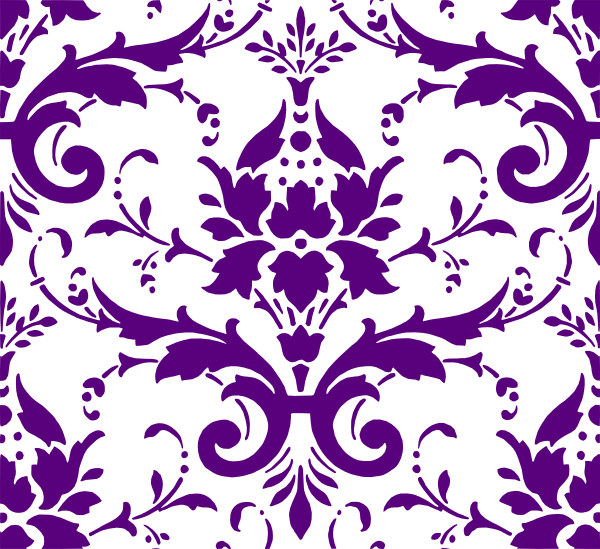 image black and white download Purple Damask clip art