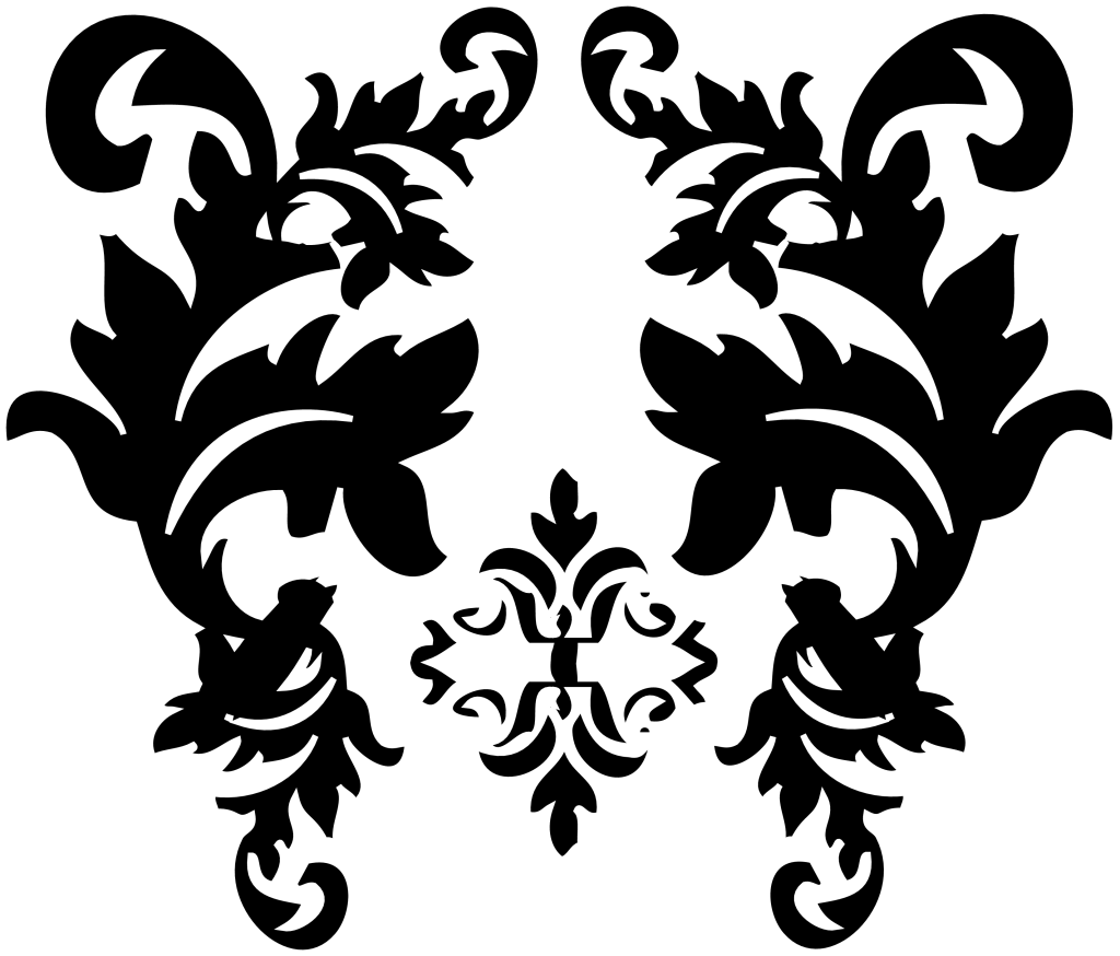 image download Black Damask Pattern