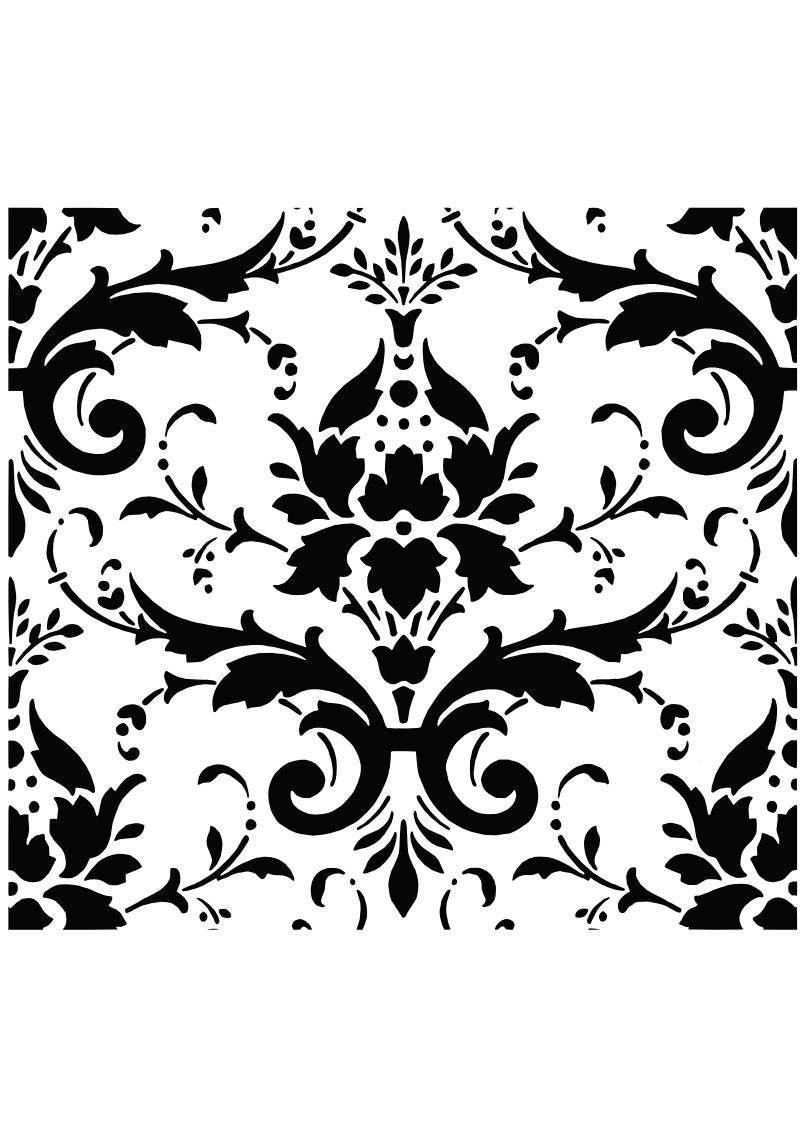 graphic royalty free library damask SVG
