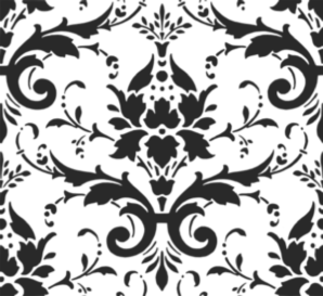 svg freeuse Black Damask Pattern Clip Art at Clker
