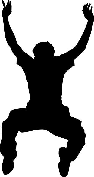 vector black and white sihouette art for children