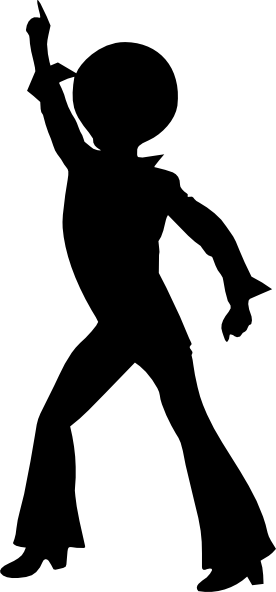 image royalty free 80's clipart black and white. Disco dancing male clip