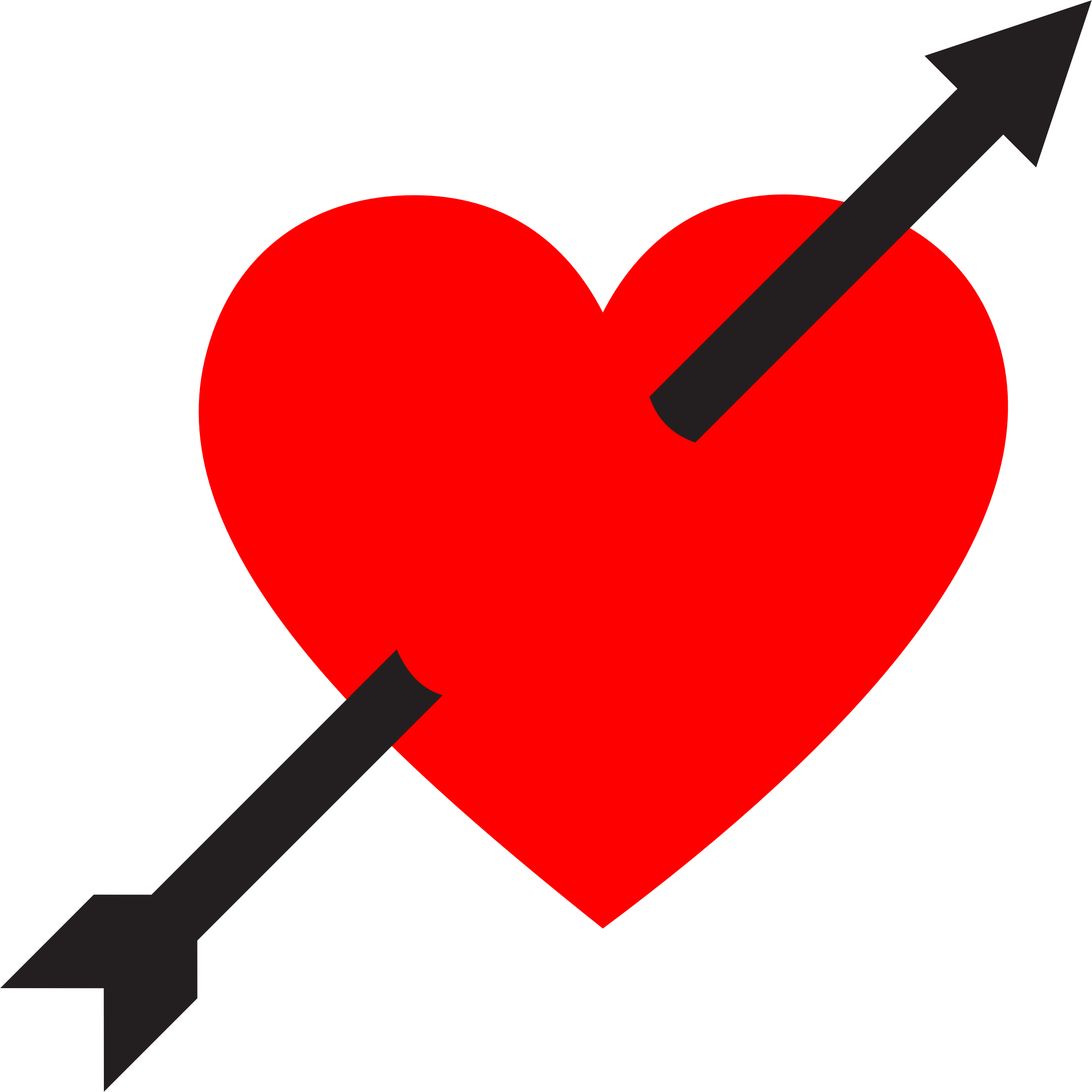 image freeuse library Arrow clipart heart