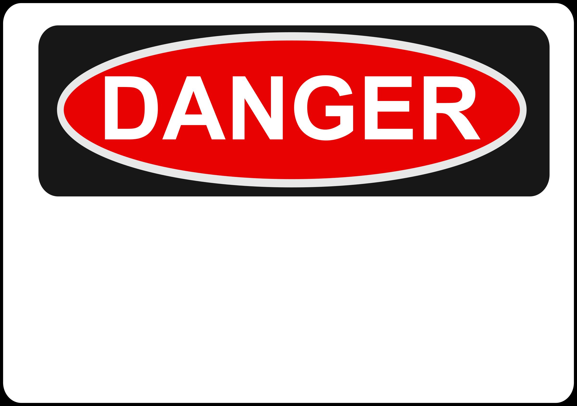 svg transparent library Blank big image png. Danger clipart.