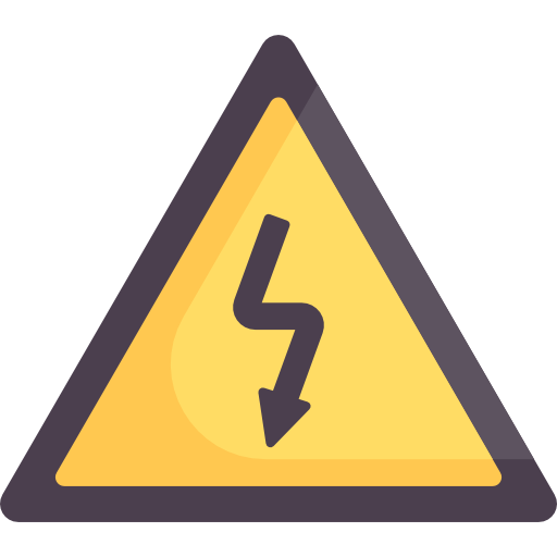 svg royalty free stock Electrical danger sign