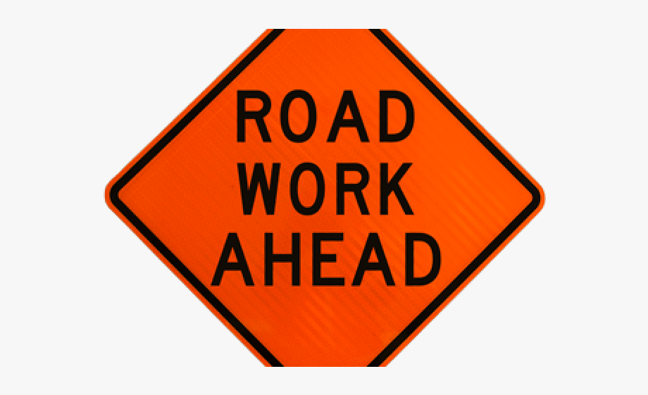 svg royalty free library Emergency symbol ahead . Danger clipart road work sign.