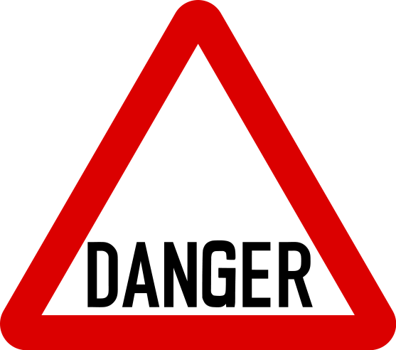 transparent Danger clipart road work sign. Free printable warning signs.