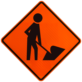 image freeuse stock Danger clipart road work sign. Construction signs made in.