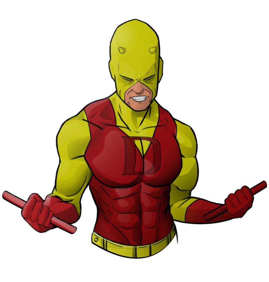 svg black and white library Daredevil Yellow