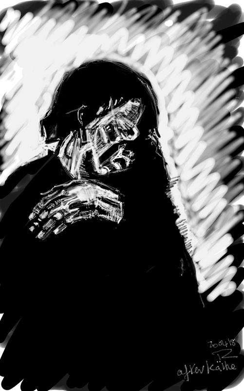 banner freeuse Darkness drawing. Ripped from the scribblah.