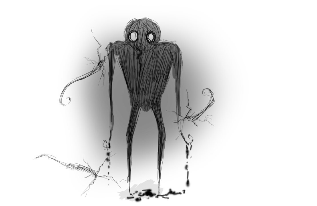 clip art stock Darkness drawing. Silent monsters of by.