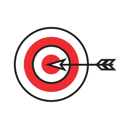 banner library Target Goal with Dart Isolated Icon