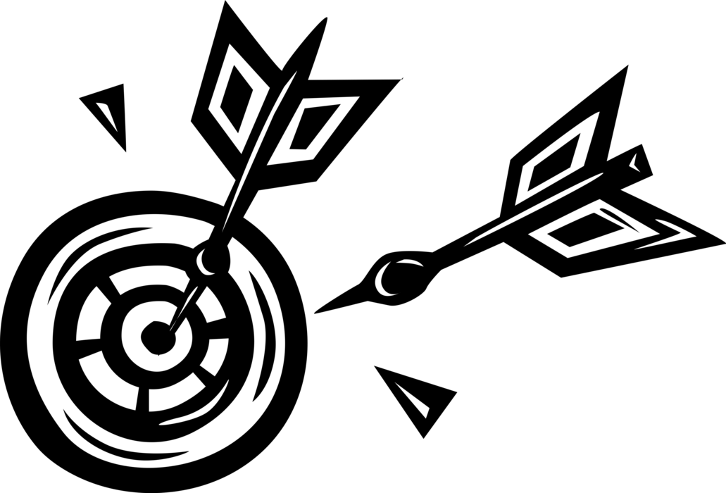 clip library library Dartboard vector black and white. Darts in game image
