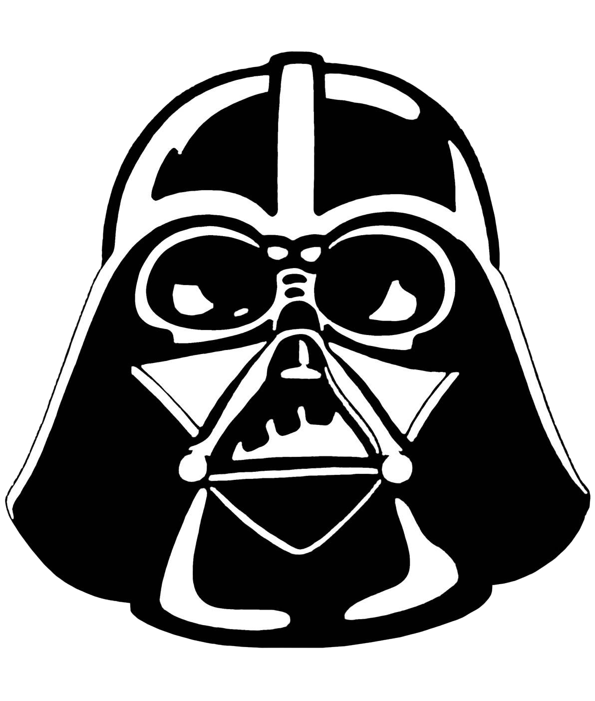 clip royalty free library Darth vader clipart. Stencil star wars