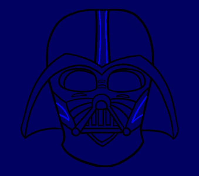 image royalty free download Darth Vader Drawing For Kids at GetDrawings