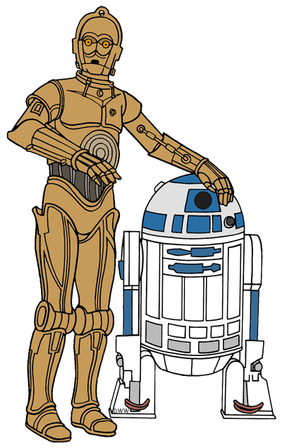 jpg black and white download yoda clipart c3po r2d2 #85823016