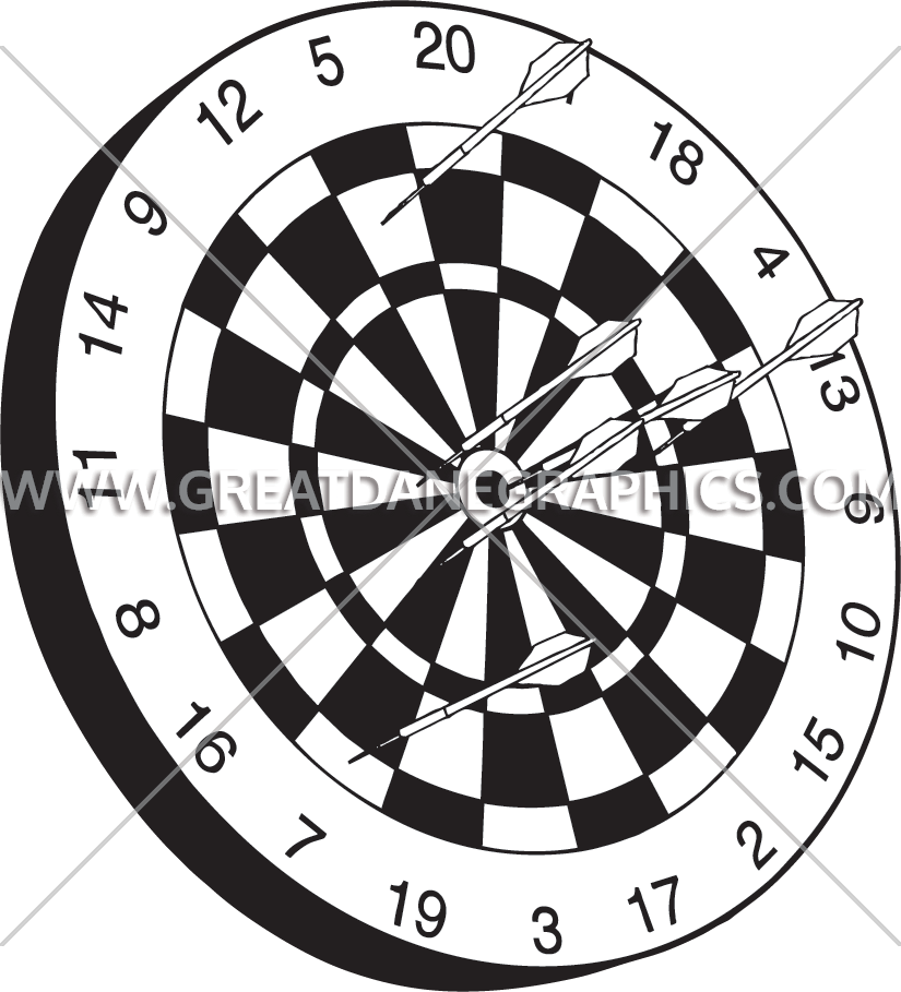 banner black and white library Darts clipart. Drawing at getdrawings com