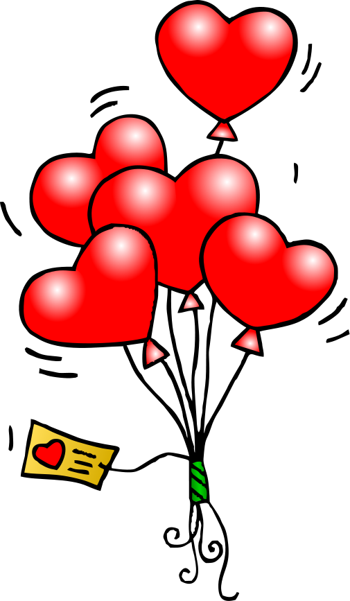 graphic black and white Balloon clipart . Valentine vector card