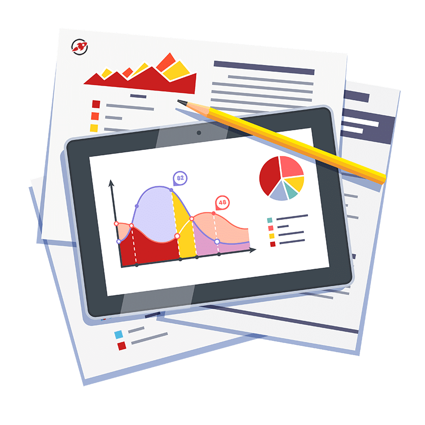 image royalty free Data clipart monthly report