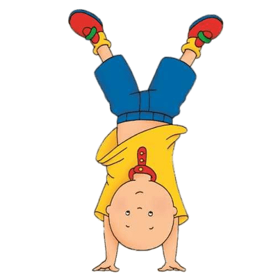 clip art free library Caillou Daydreaming transparent PNG