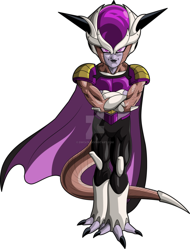 black and white stock St form saga mll. Frieza transparent suit