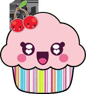 clipart transparent Cupcake feliz