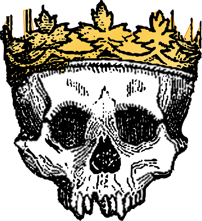 black and white stock Death Clipart dead king
